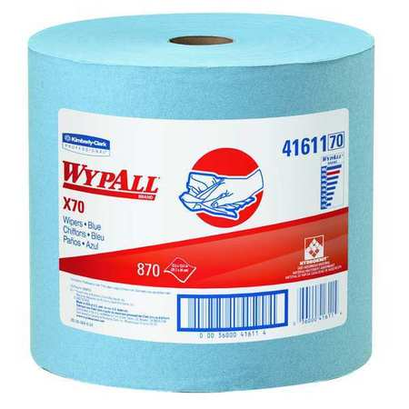 "Wypall Wiper Rolls,  12-1/2"" x 13-2/5"",  870 Sheets/ Pack"