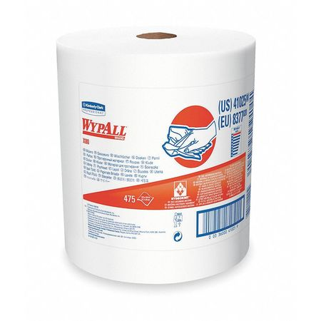 """WypAll X80 Wypall Wiper Rolls,  12-1/2"""" x 13-2/5"""",  475 Sheets/ Pack"""