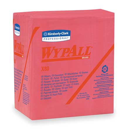 "WypAll X80 Disposable Wipes,  12-1/2"" x 12"",  4 Pack,  50 Wipes/ Pack"