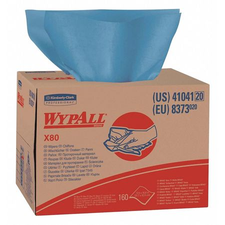 "WypAll X80 Disposable Sheets,  12-1/2"" x 16-5/8"",  160 Sheets"