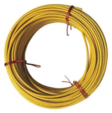 Cable, 1/8 In, L50Ft, WLL340Lb, 7x7, Steel