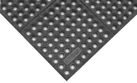 Interlock Drainage Mat, Black, 3 ft.x5 ft.