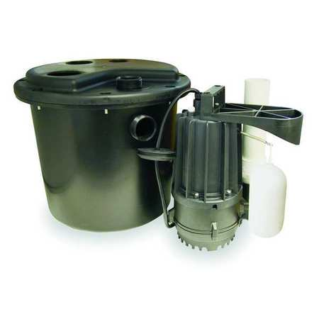 Sink Pump System, 5 G, 1/3 HP, 115 V, 3.1 A