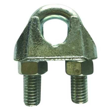 Wire Rope Clip, 1/8 In, Maleable Iron