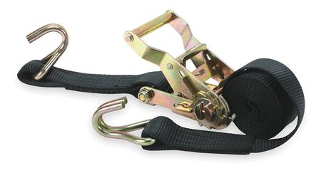 Tie-Down Strap, Ratchet, 6ft x 1-1/2In, PK2