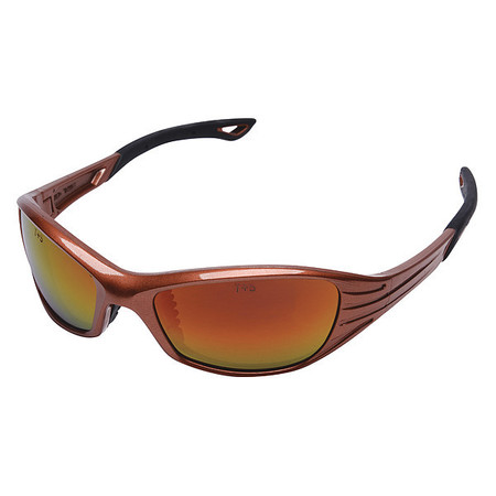 Condor Red Mirror Safety Glasses,  Scratch-Resistant,  Wraparound