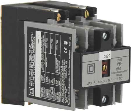 NEMA Control Relay, 2NO, 480VAC, 10A