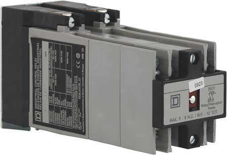 NEMA Control Relay, 12NO, 240VAC, 10A