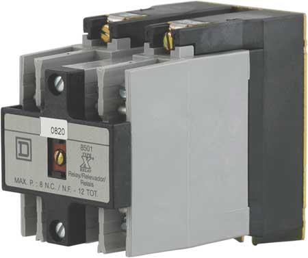 NEMA Control Relay, 3NO, 240VAC, 10A