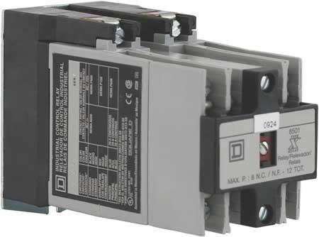 NEMA Control Relay, 6NO, 480VAC, 10A