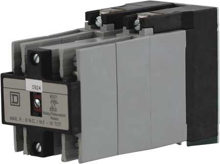 NEMA Control Relay, 8NO, 480VAC, 10A