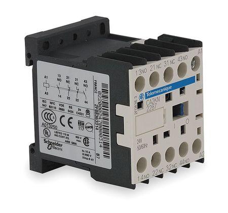 IEC Control Relay, 3NO/1NC, 120VAC, 10A