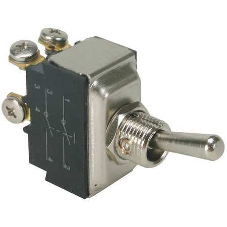 Toggle Switch, DPST, 15A @ 277V, Screw