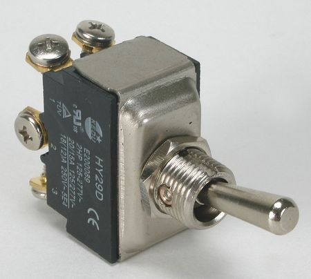 Toggle Switch, DPDT, 15A @ 277V, Screw