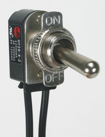 Toggle Switch, SPST, 2 Conn., Maint. On/Off