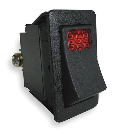 Lighted Rocker Switch, SPST, 3 Connections