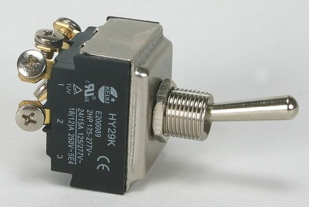 Toggle Switch, 3PST, 15A @ 277V, Screw