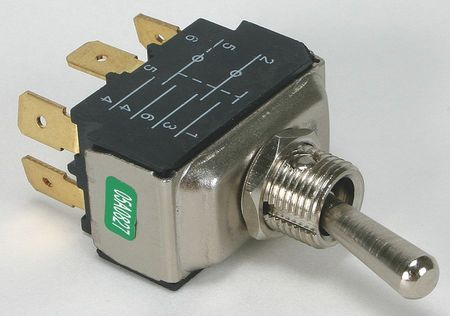 Toggle Switch, DPDT, 15A @ 277V, QuikConnct