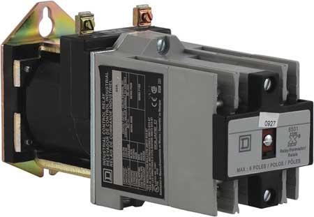 NEMA Control Relay, 8NO, 24VDC, 10A