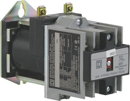NEMA Control Relay, 2NO, 24VDC, 10A