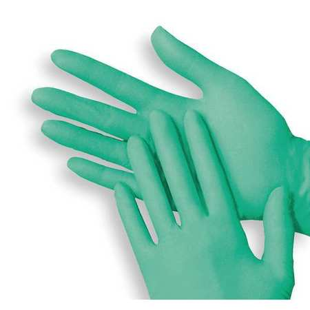 Disposable Gloves, Vinyl/Aloe, M, Green, PK100