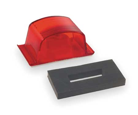 Small Square PC-Rated Lamp, Red
