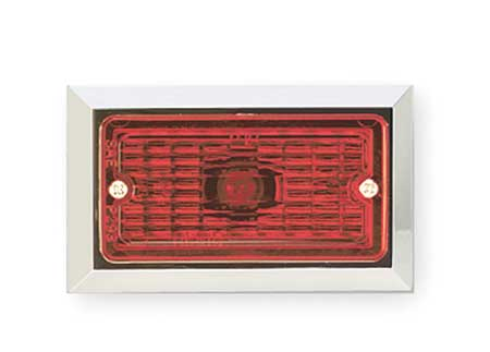 Marker Lamp, Rectangular Socket,  Red