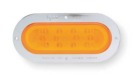 Stop/Tail/Turn Lamp, Oval, Yellow, LED