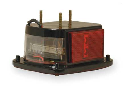 Box Lamp, LED With Sidemarker, LH, Red