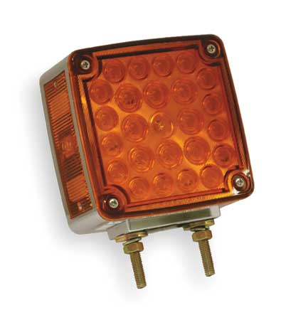 Two Sided Lamp, Side Marker, RH, Red/Yellow
