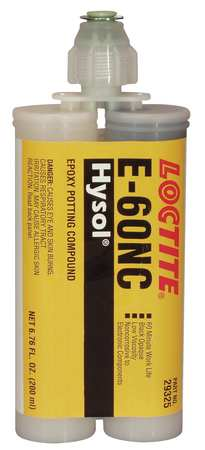 Epoxy Adhesive, 2Part, Blk, 200mL, Cartridge