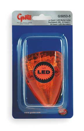 Marker Lamp, LED, School Bus Wedge, Yellow