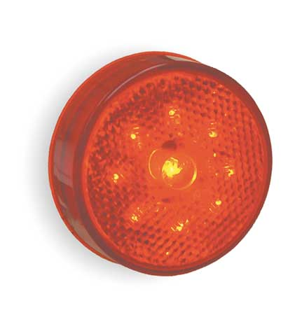 Lamp, Built-In Reflector, 2.5 In, LED, Red