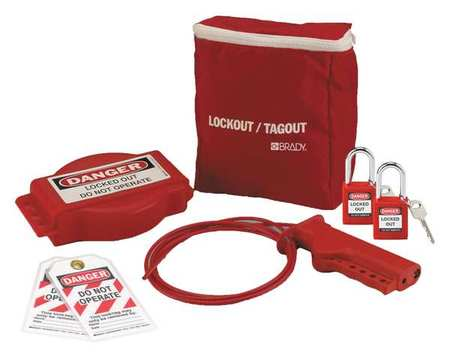 Portable Lockout Kit, Electrical/Valve, 7