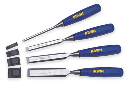 Wood Chisel Set, 4 PC, 1/4 To 1 In Tip