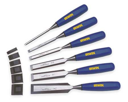 Wood Chisel Set, 6 PC, 1/4 To 1 In Tip