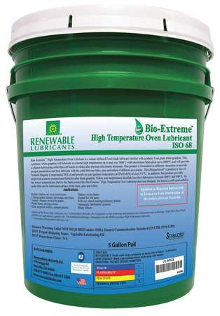 Oven/Chain Lube, Bio-Extreme HT 68, 5 Gal