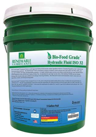 Bio-Food Grade Hydraulic Fluid,  5 gal.,  ISO 32