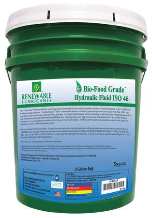 Bio-Food Grade Hydraulic Fluid,  5 gal.,  ISO 46