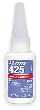 Threadlocker 425, 0.70 oz. Bottle, Blue