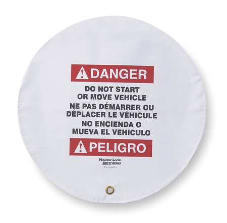 Danger Security Sign, 20 x 20In, Vinyl