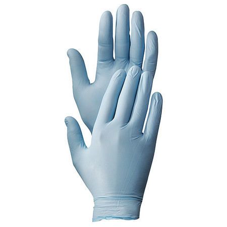 Disposable Gloves, Nitrile, L, Blue, PK100
