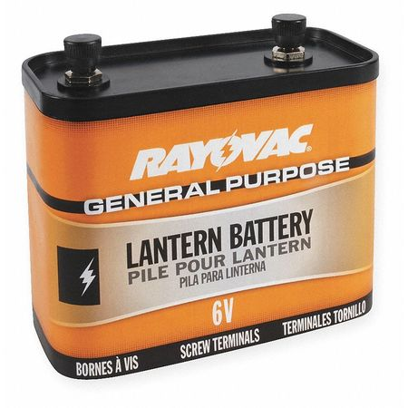 Lantern Battery, Industrial, 6V, Screw Term