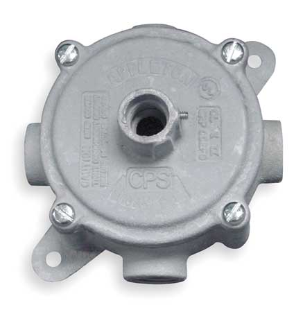 "Outlet Box, 3/4"" Hub"