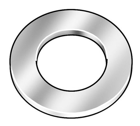 "#10 x 23/64"" OD Plain Finish 18-8 Stainless Steel Military Specification Flat Washers,  50 pk."