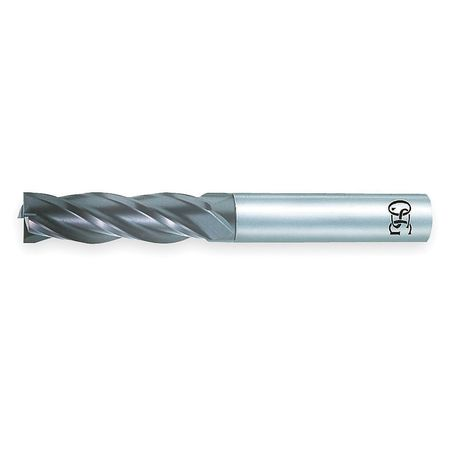 End Mill, Stub, Carbide, 3/8, 4 FL, Sq End