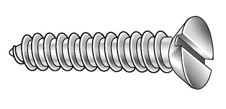 Metal Screw, Flat, #10, 1/2 L, PK100