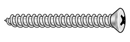 Metal Screw, Oval, #10, 1 In L, PK100