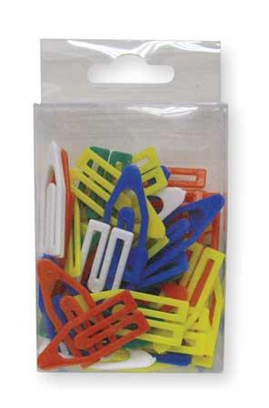 Paper Clip, 1 1/2In, Asrt, Plstc, PK50