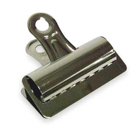 Bulldog Clip, 3in W, Silver, PK12